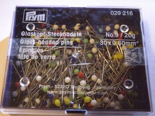 LaceyMays Haberdashery by Prym Glass headed pins No9 20 g pot