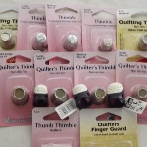 Thimble – protects finger or thumb ergonmic, metal-sewing or quilting