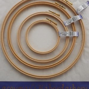 Elbesse wooden hoop size 4-10 inch for stitching or display projects