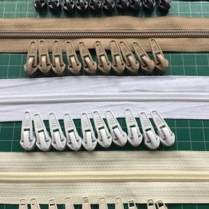 Continuous Zips No 3, 3/4, 5, 5/6 and sliders 5 metres plus 10 free sliders