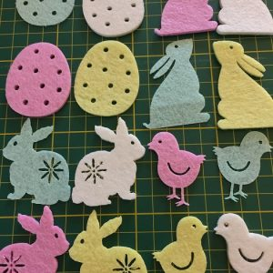 Easter Motifs Shapes Sew on or stick on by Groves