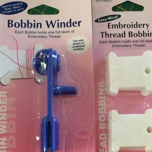Embroidery Bobbin Winder and Thread bobbins