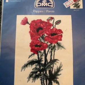 Counted Cross Stitch  7 x 9 inch ( 12 x 23cm) Poppies