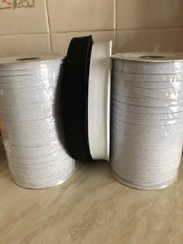 LaceyMays Haberdashery Elastic 8 Cord (6 mm) WHITE