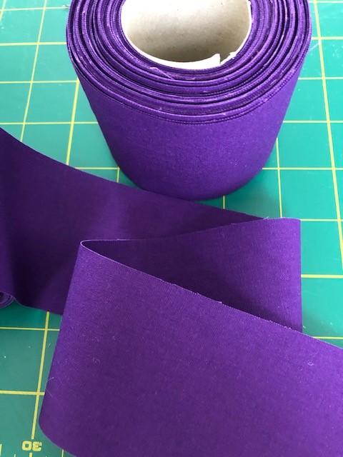 LaceyMays Haberdashery !0 metres Deep Purple flat 100% cotton tape 2.5 inch