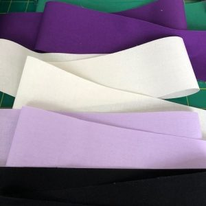 100% Cotton Fabric for Binding 5 or 10 metres 2.5 inch various colours