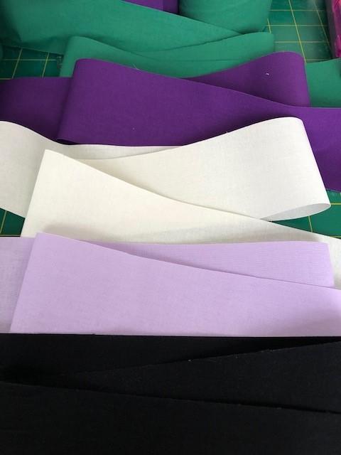 LaceyMays Haberdashery !0 metres Black (bottom) flat 100% cotton tape 2.5 inch