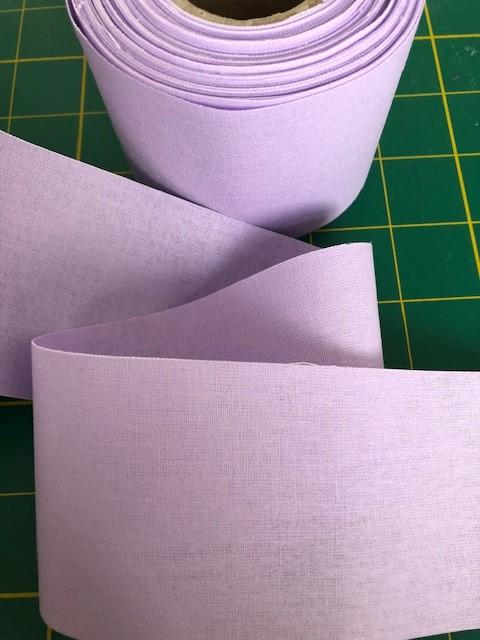 LaceyMays Haberdashery 5 metres Light lilac flat 100% cotton tape 2.5 inch