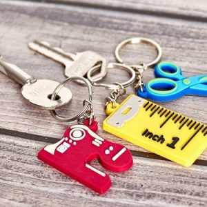 Sewing Theme Key Rings 3 pack one of each